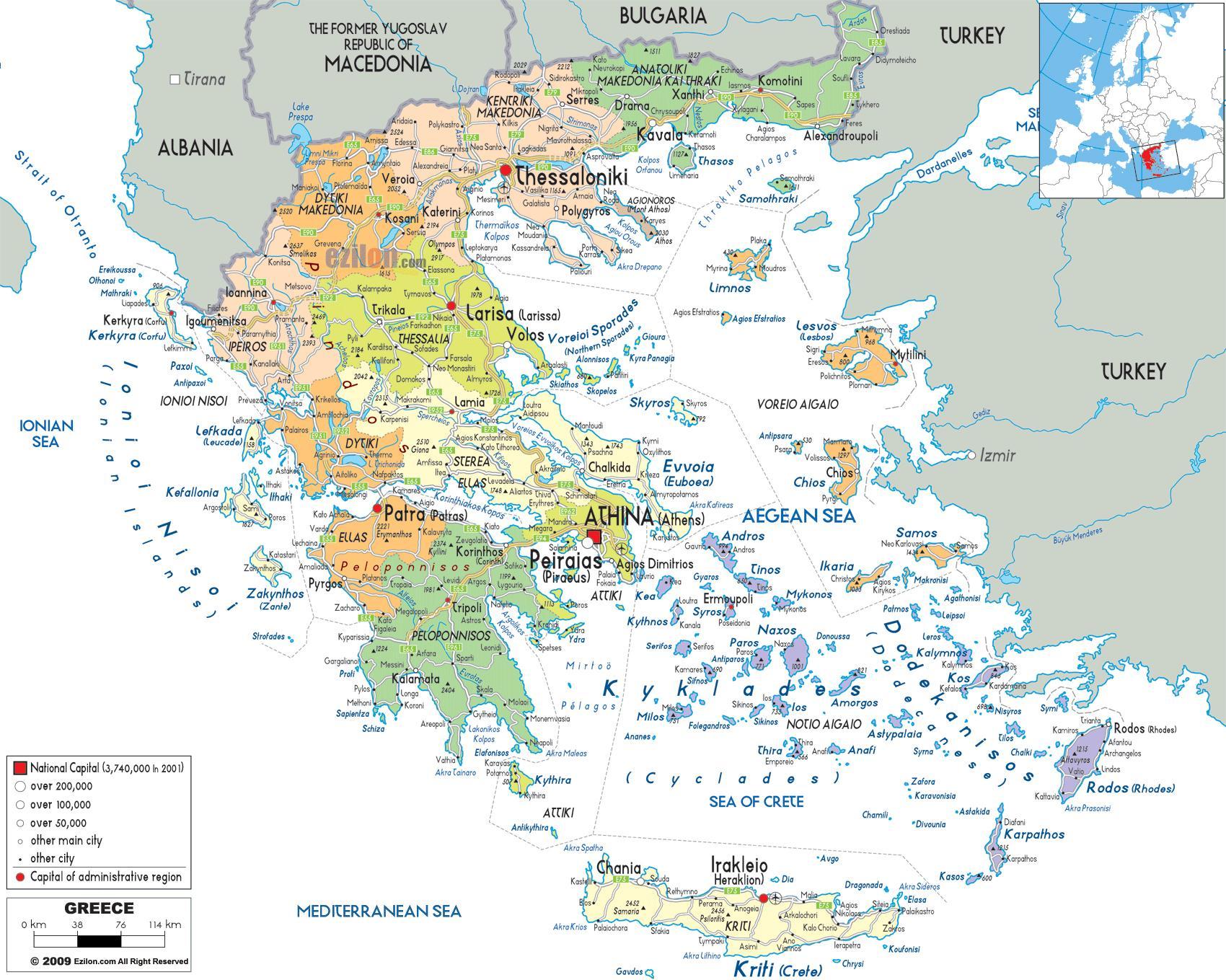 grčka mapa Grčka gradova mapu   Mapa Grčka je sa gradovima (Južnoj Europi  grčka mapa