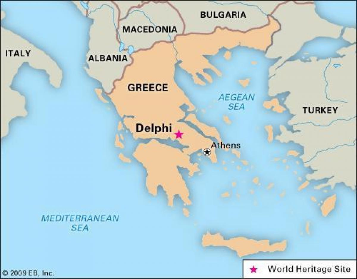 Delfi Grcka Mapu Mapa Je Grcka Delfi Juznoj Europi Evropi