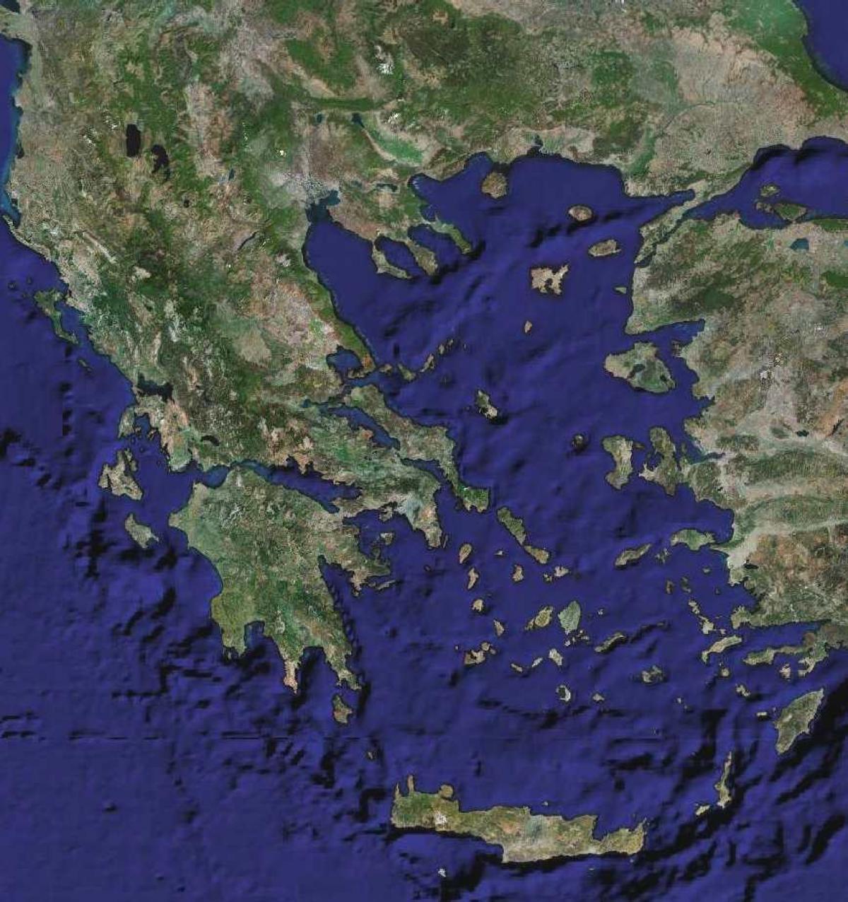 Grcka Satelitske Karte Mapa Je Grcka Satelit Juznoj Europi